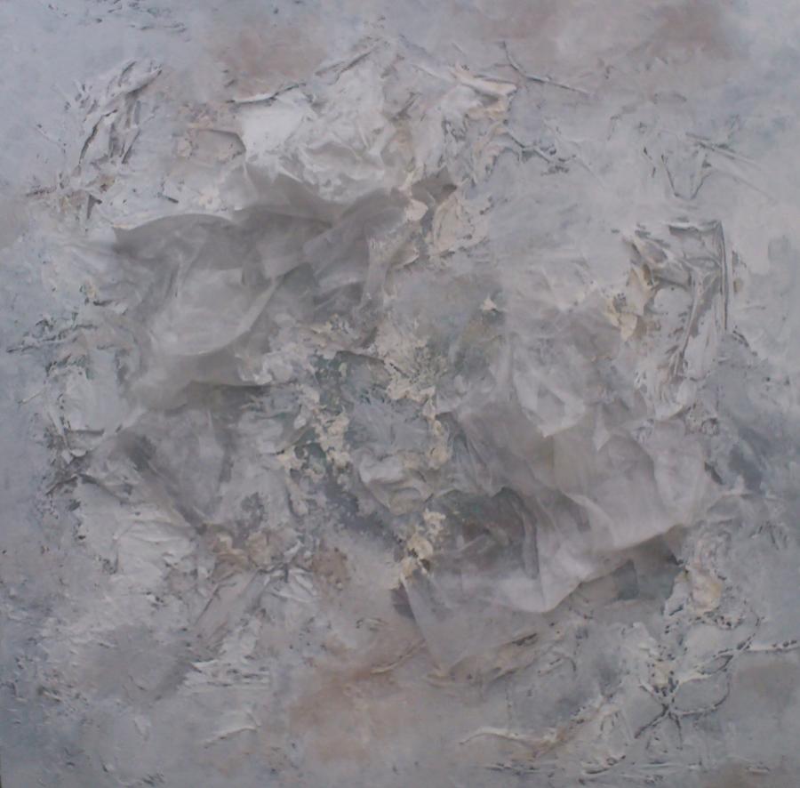 huid transparante cocon, diverse materialen op plaat